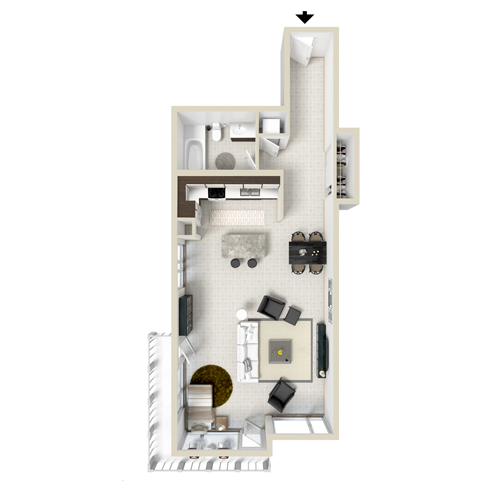 Studio Loft Apartment Floor Plans studio and 1 bedroom apartment floor plans | the lofts on la brea